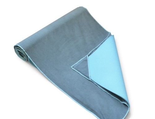 200GSM skidless yoga towel with four corners fits yoga mat