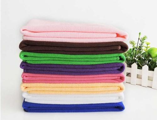 Cheap thin super soft microfiber bath towel wholesaler
