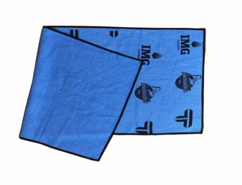 Custom silkscreen print best microfiber golf towel manufacturer