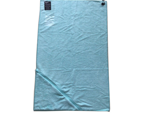 Embossed logo pocket waterproof sport towel with hole and clip