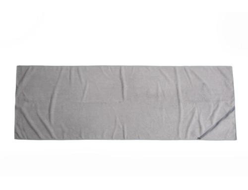 Grey 400gsm microfiber non slip yoga towel target with pockets
