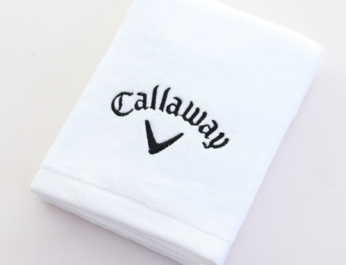 White callaway golf towel personalized golf towels with clip cotton velour golf towel drill